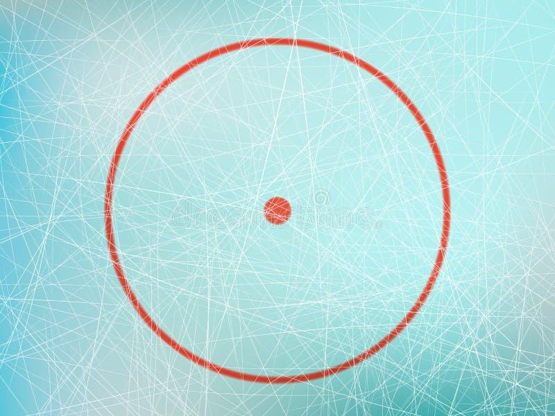 在曲棍球溜冰场的圈子 向量例证