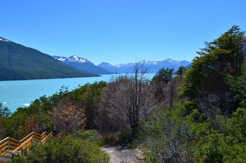 在最美好的地方的冰山佩里托莫尔诺一附近在阿根廷 免版税库存图片