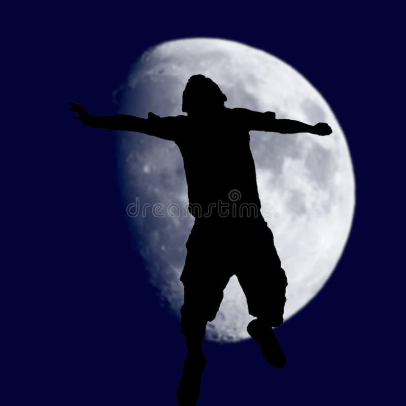 在月亮成功 免版税库存照片