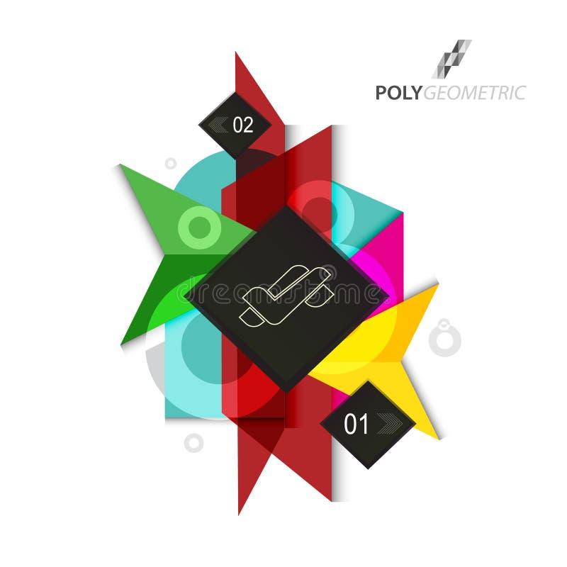 在有吸引力的样式的企业infographic polygeometric模板 向量例证