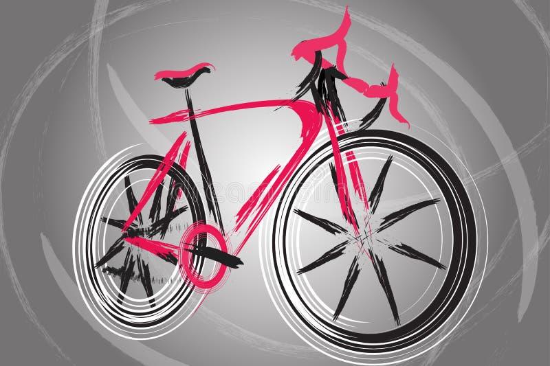 在有吸引力的背景的抽象未来自行车 库存照片