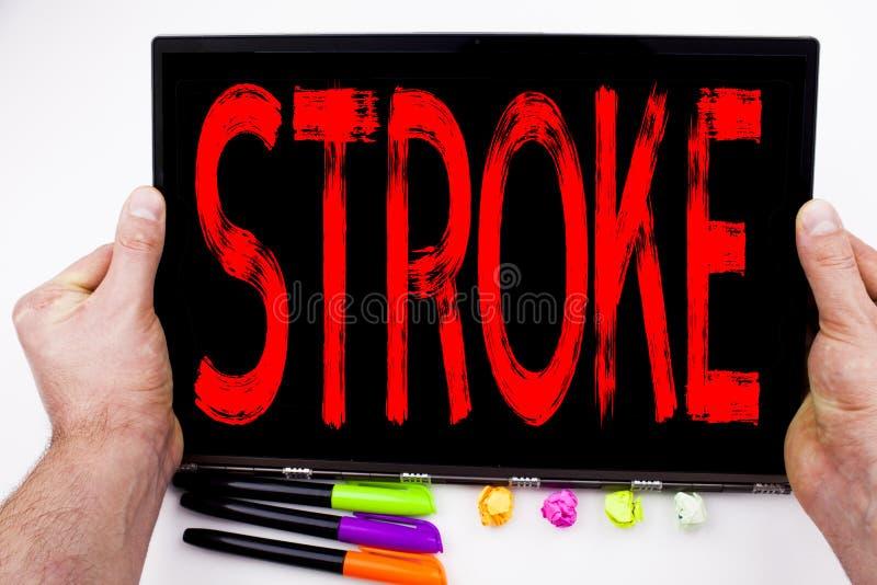 在有标志的,笔,文具办公室抚摸在片剂写的文本,计算机 医学健康stethosco的企业概念 免版税图库摄影