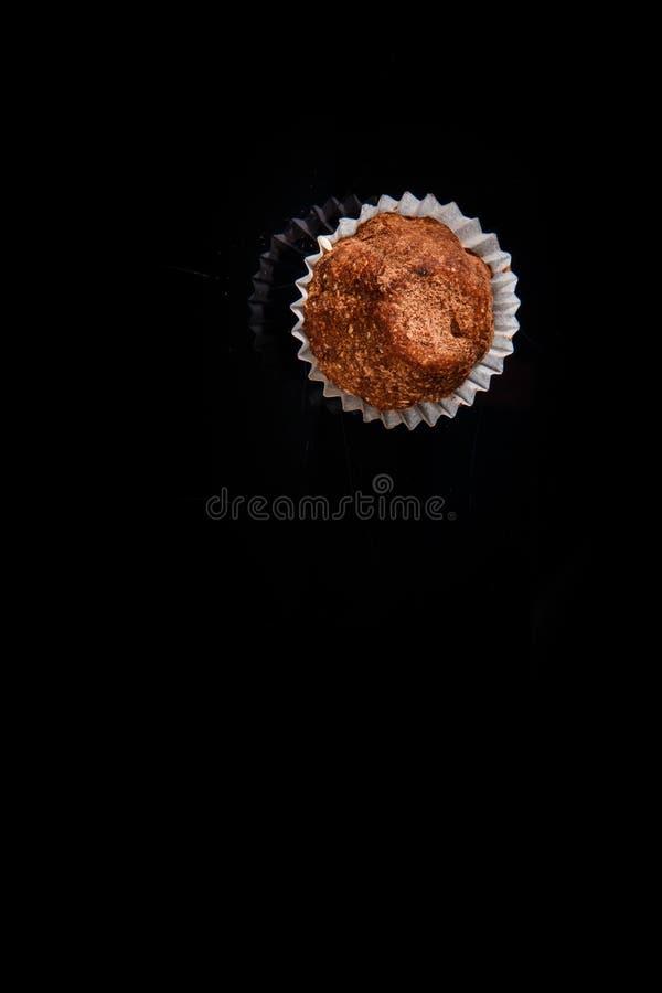 在有用的有机手工制造巧克力糖的顶视图 库存照片