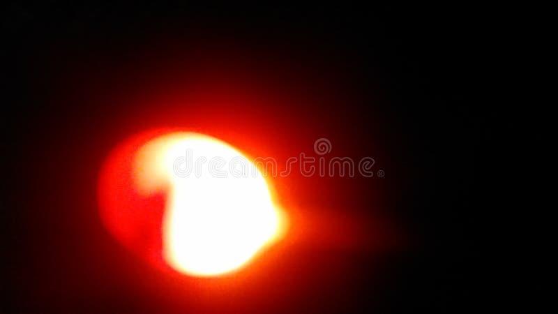 在望远镜的红色星 免版税库存照片