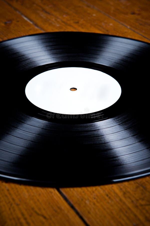 在木地板的唱片, 库存图片