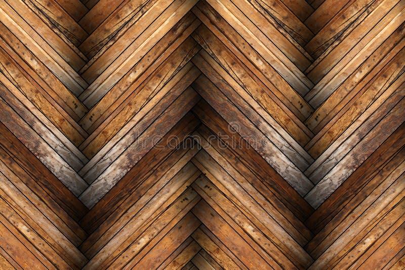 在木地板纹理的桃花心木瓦片 免版税库存照片