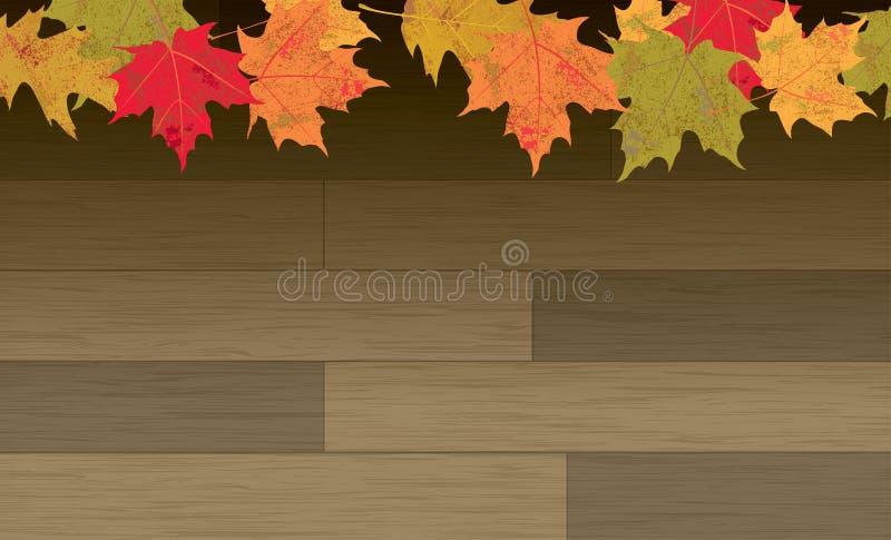 Download 在木地板背景的秋叶 向量例证. 插画 包括有 秋天, 楼层, 自治权, 感恩, 叶子, 向量, 谷物, 季节 - 59103986