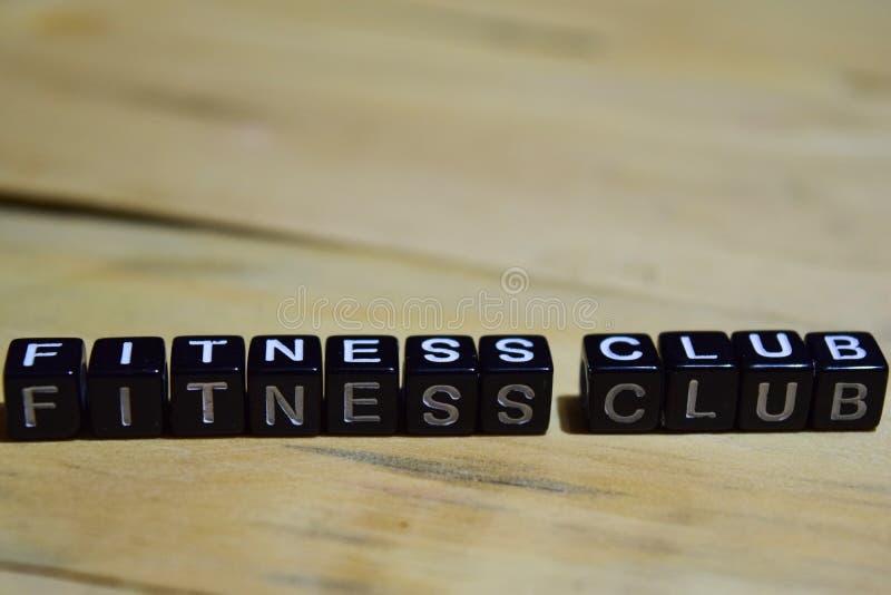 在木块写的健身俱乐部 免版税库存图片