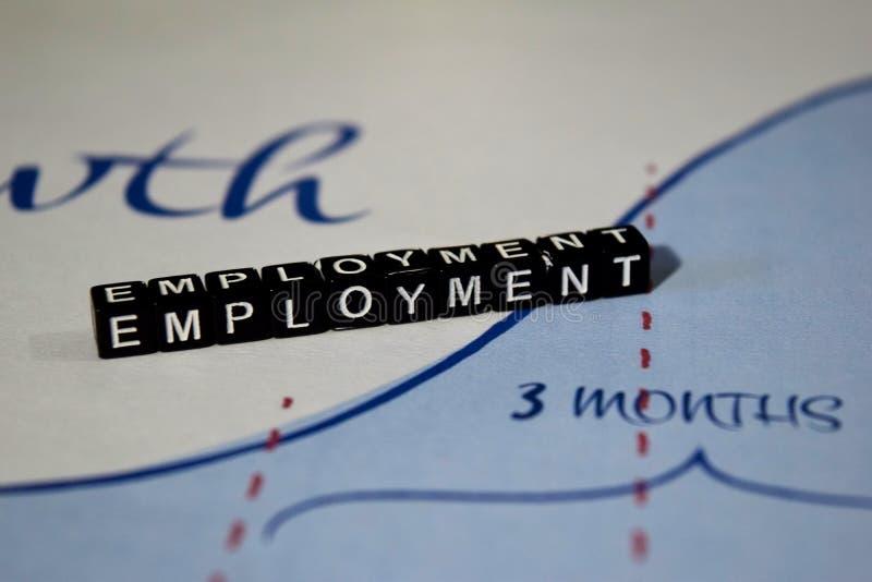 在木块的就业 被使用的事业工作聘用的概念 免版税库存图片