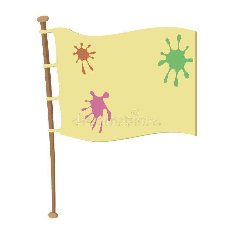 在木旗杆的队旗子 皇族释放例证