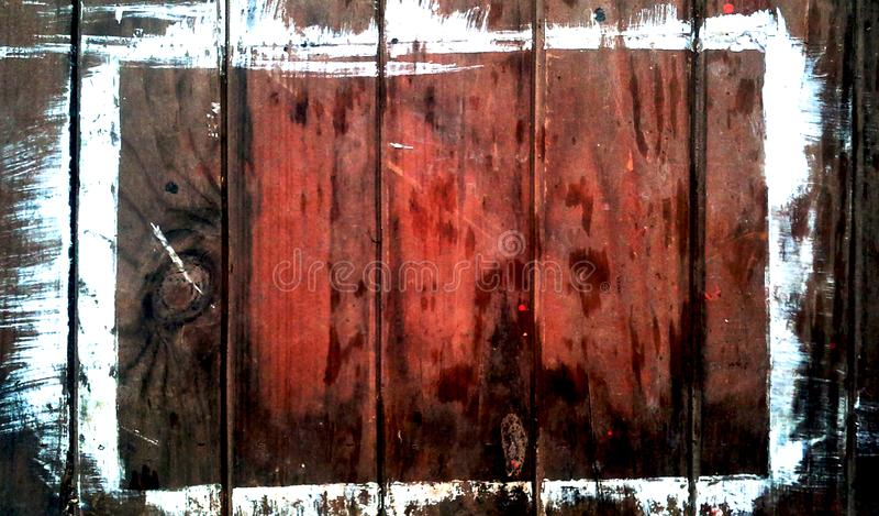 在木桌上的白色油漆污点 免版税图库摄影