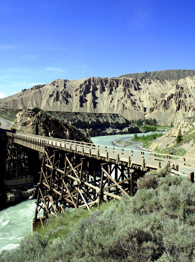 Download 在木的河的桥梁 库存照片. 图片 包括有 拱道, 地形, 贿赂, 外面, 后退, 木头, 距离, 峡谷, 天空 - 193194