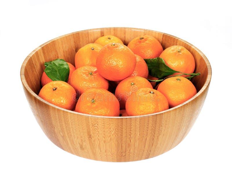 在木碗的蜜桔 免版税库存图片