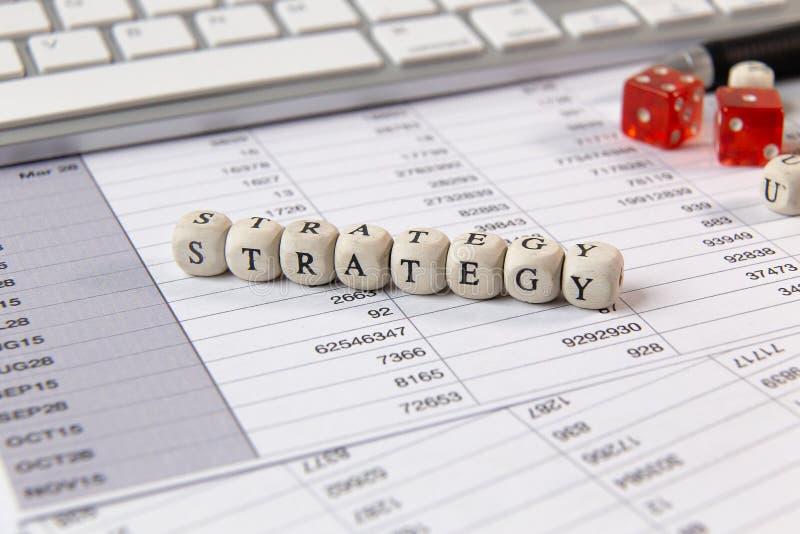 在木立方体企业内容图象的战略词 免版税图库摄影