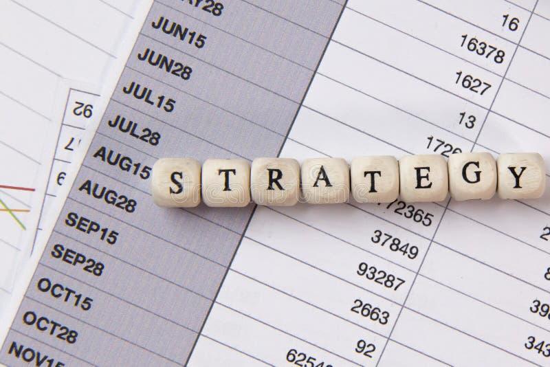 在木立方体企业内容图象的战略词 免版税库存照片