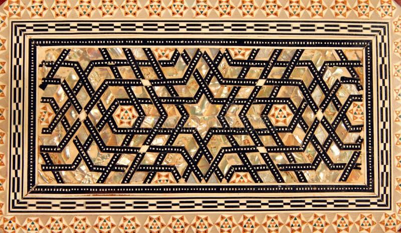 在木箱的传统土耳其样式 库存图片