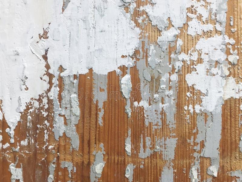 在木纹理的老油漆 库存图片