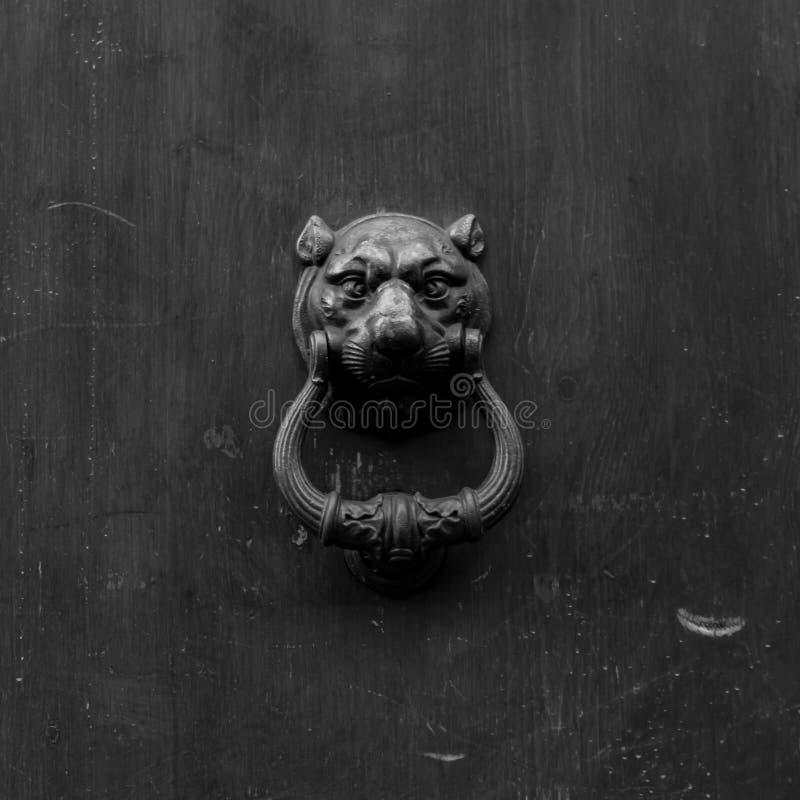 在木老门的老拍板 图库摄影