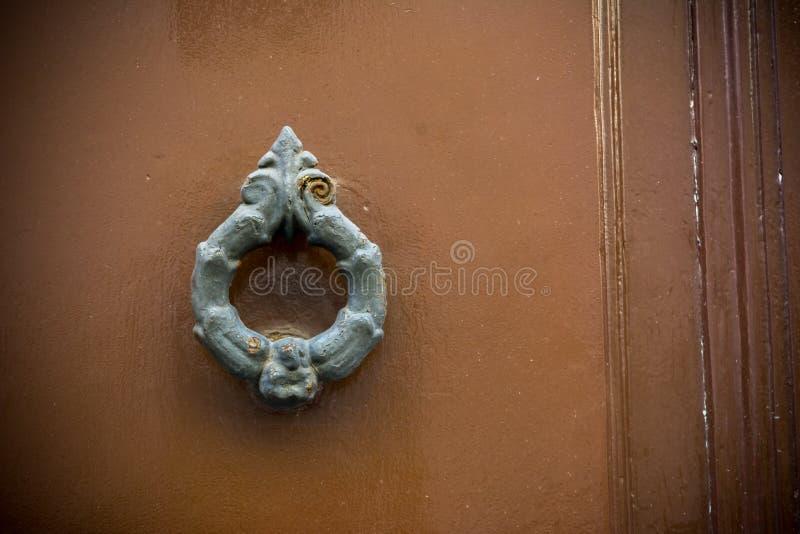 在木老门的老拍板 库存图片