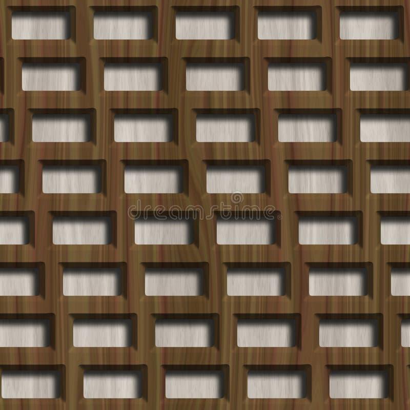 在木背景的木格子 E 免版税库存图片