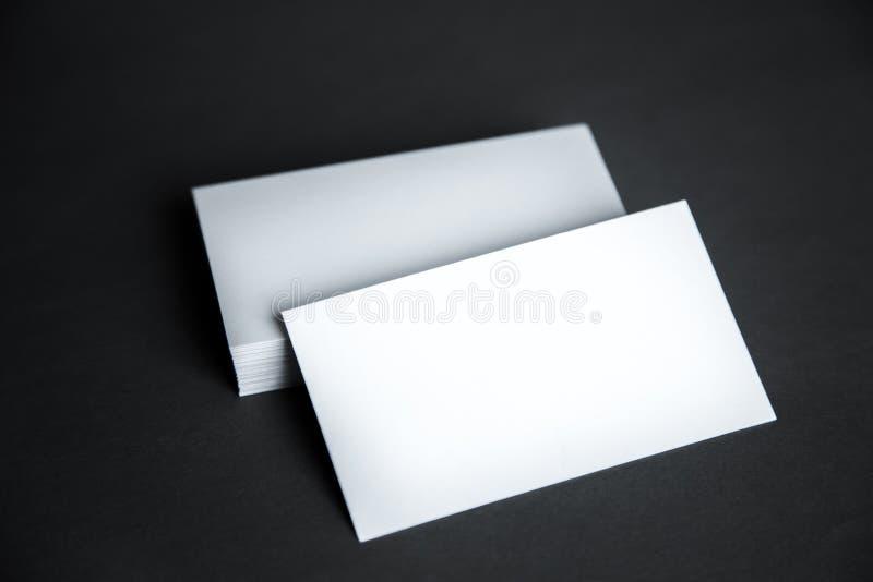 在木背景设置的空白的文具 免版税库存照片