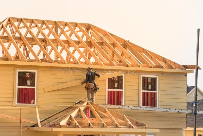 在木议院的建造者 免版税图库摄影