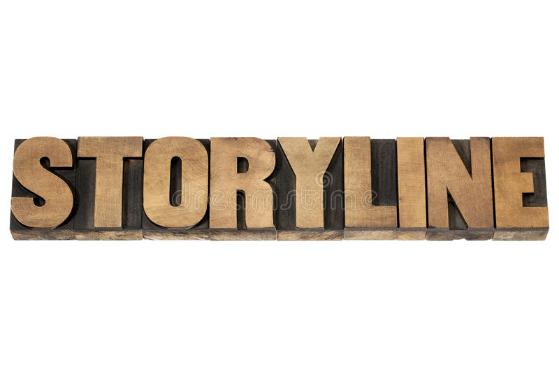 在木类型的故事情节 免版税库存图片