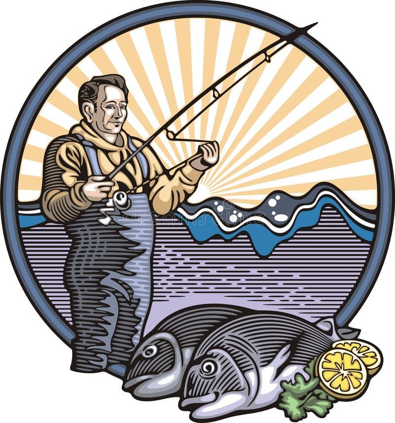 Download 在木刻样式的渔夫例证 向量例证. 插画 包括有 渔夫, 海运, 柠檬, 图象, 食物, 捕鱼, 农民, 例证 - 45253170