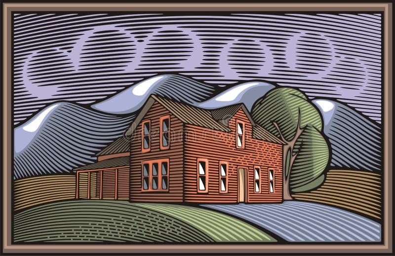 Download 在木刻样式的Countrylife和农厂例证 向量例证. 插画 包括有 框架, 农场, 例证, 样式, ,并且 - 45253178