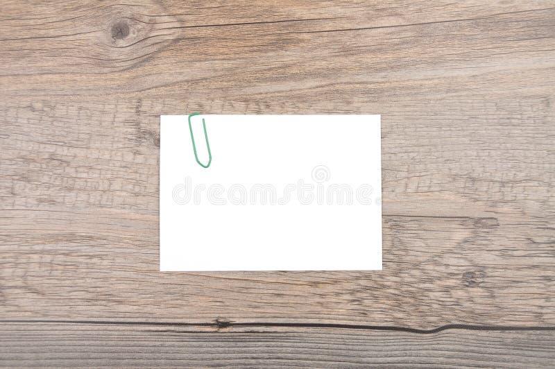 在木头的备忘录 库存图片