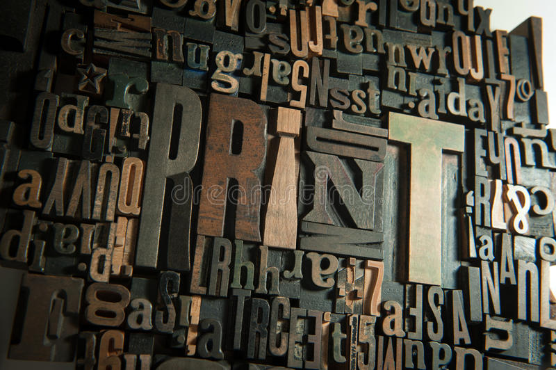 在木头的背景印刷品 免版税库存照片
