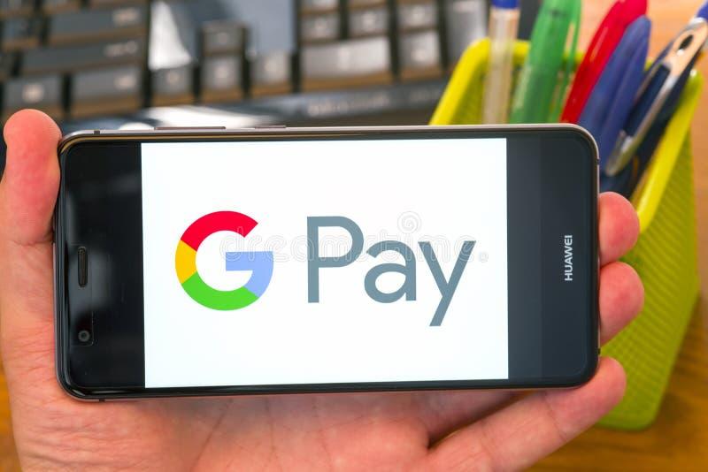 在机动性的谷歌薪水 免版税库存照片