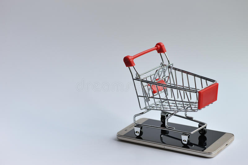 在机动性的购物车 库存照片