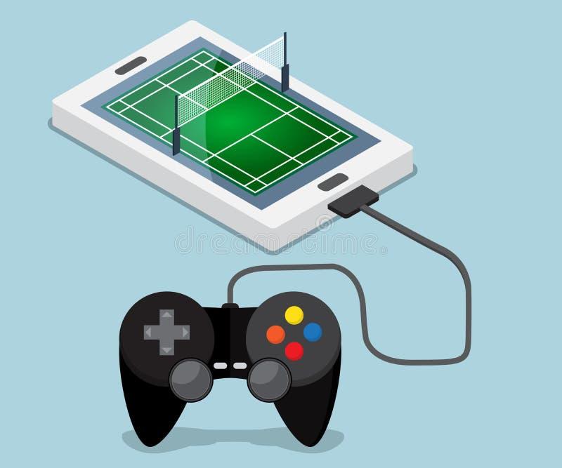 Download 在机动性,智能手机的羽毛球场 向量例证. 插画 包括有 赌博, 体育运动, 电话, 数字式, 小组, 室内 - 72350077