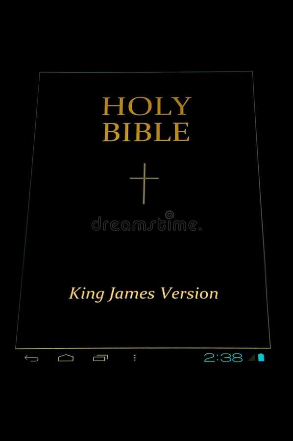 在机器人的圣经 图库摄影