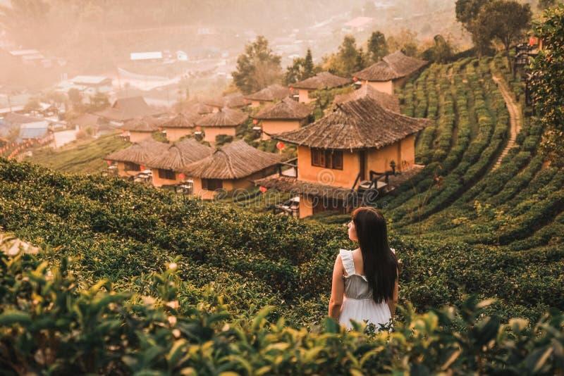 在李酒东拉泰语,中国解决,夜丰颂,泰国的日出 图库摄影