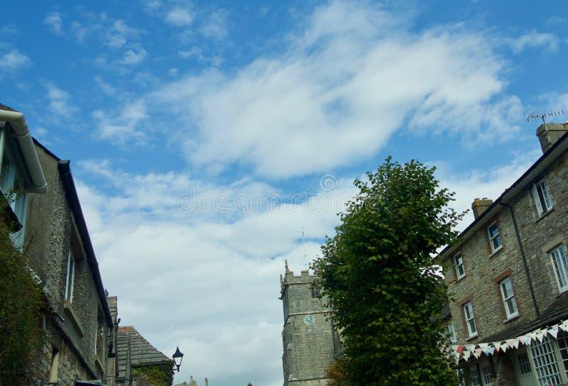 在村庄的云彩 图库摄影