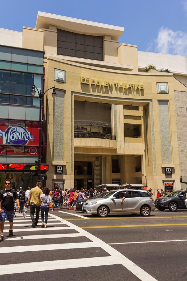 在杜比剧院前面的行人穿越道 免版税库存图片