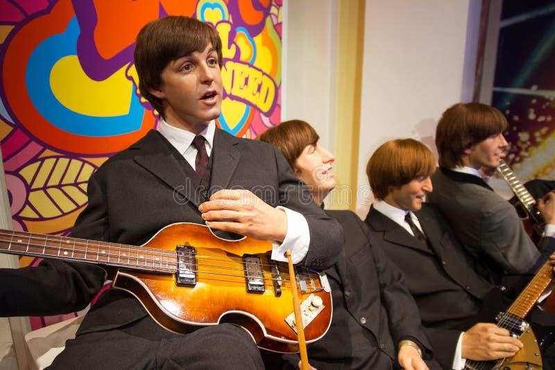 在杜莎夫人蜡象馆伦敦英国的Beatles 库存照片