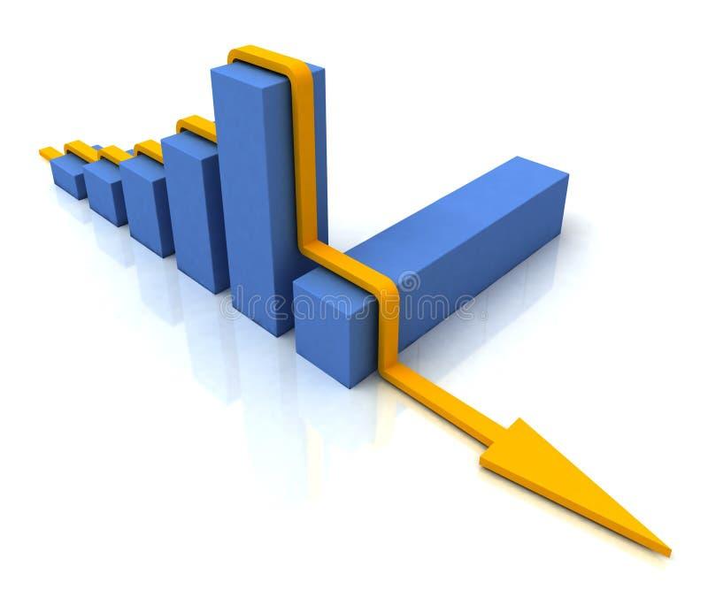 在条形图显示利润的线路按照预算值 库存例证