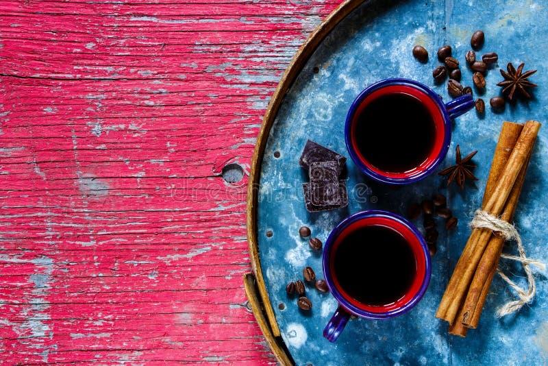 在杯子的咖啡浓咖啡 免版税库存照片