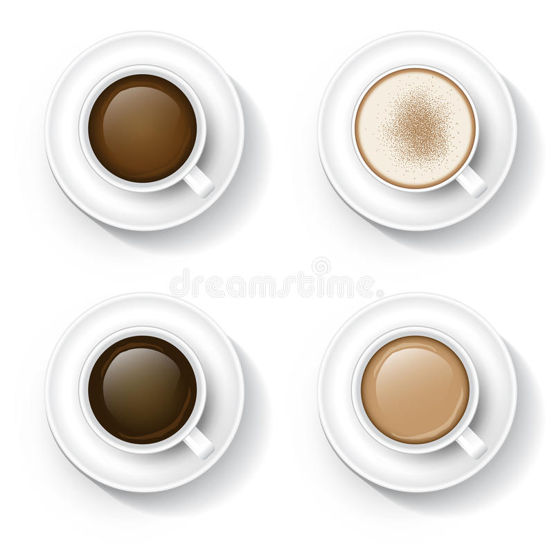 在杯子的咖啡 库存例证