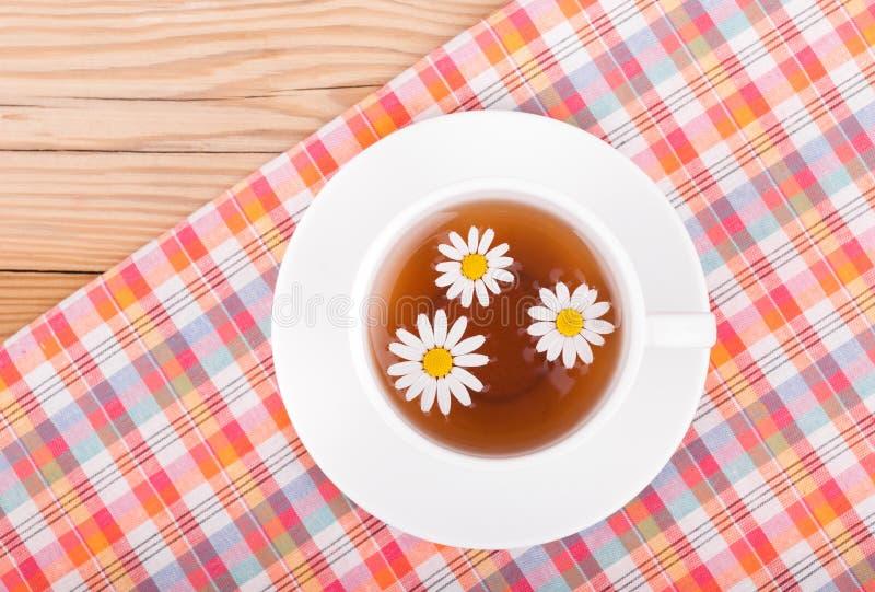在杯子的甘菊茶 库存图片