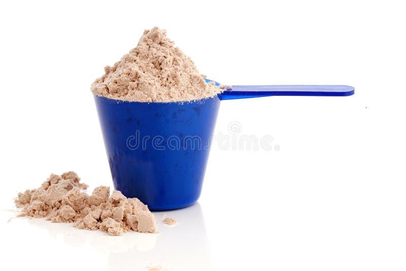 在杯子的蛋白质 免版税库存照片
