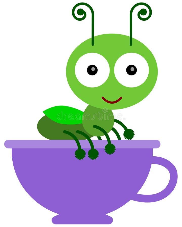 在杯子的蟋蟀 皇族释放例证