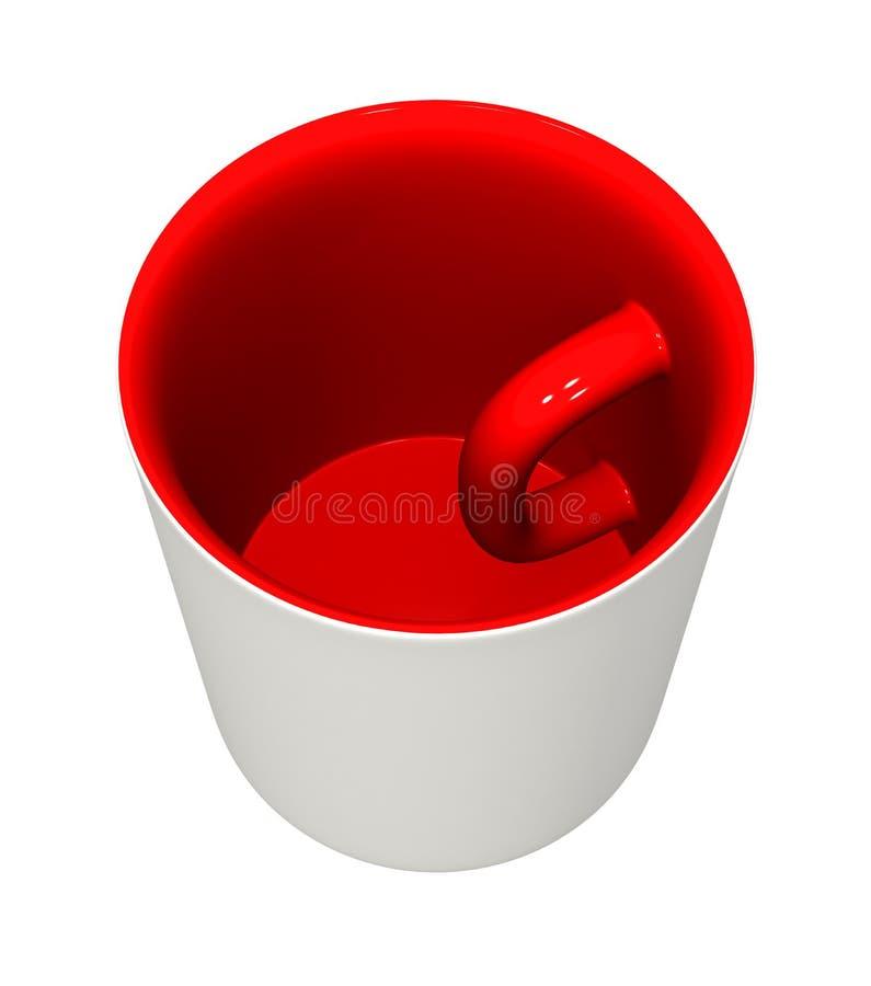 在杯子里面 皇族释放例证