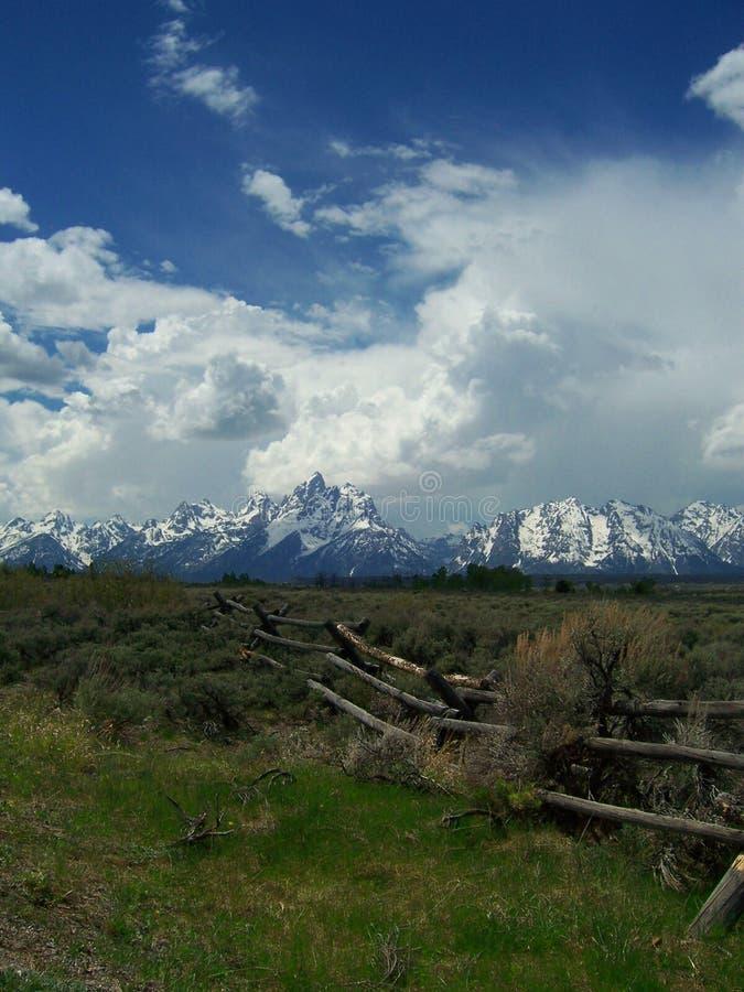 在杰克逊Hole怀俄明附近的Teton山 免版税图库摄影