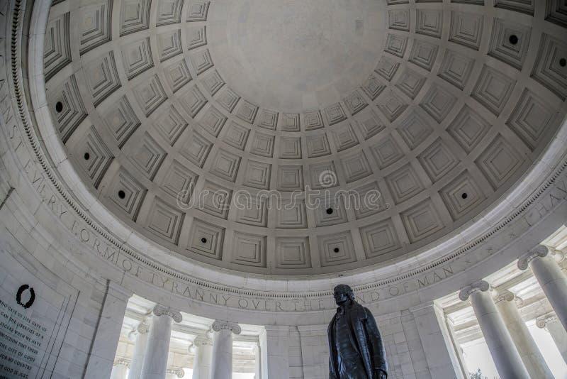 在杰斐逊纪念品里面 库存图片