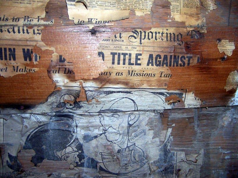 在杰斯罗斯客舱的墙纸 库存图片
