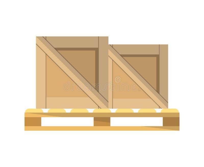 在板台传染媒介象的包装盒 库存例证